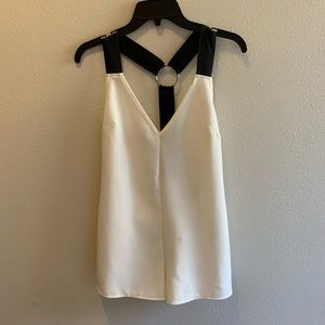 NWT Misguided tank top size 6 white and black